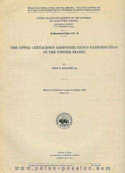 THE UPPER CRETACEOUS AMMONITES GENUS BARROISICERAS IN THE UNITED STATES