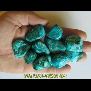 pierre roulée: chrysocolle