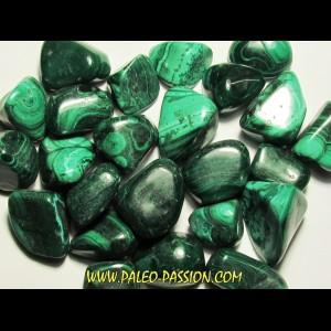 pierre roulée: malachite