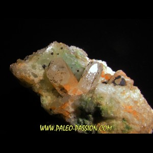 Calcite - Tyrolite - pyrolusite // l'armee celeste // Sainte Marie aux Mines