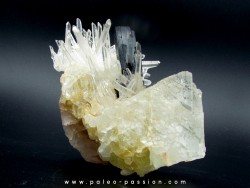 Quartz, Hubnerite, Fluorine from Peru