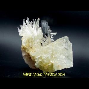 Quartz, Hubnerite, Fluorine from Peru