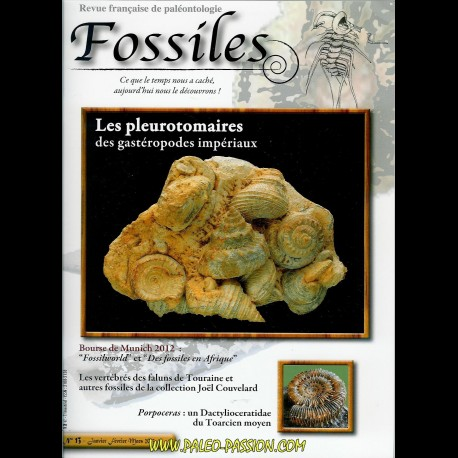 revue FOSSILES n°13 - janvier fevrier mars 2013