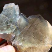 • Fluorite bleue •  Beau bloc géométrique de fluorite bleue de 8 par 6cm environ. Il a été trouvé à Trébas, dans le Tarn, en France.  •  560€  Lien vers la boutique dans notre bio  Minéraux / Halogénures  Ref. 3747  #geology #fluorite #minerals#rocks #geologyrocks #mineral #igdaily #minerales #nature #paleopassion